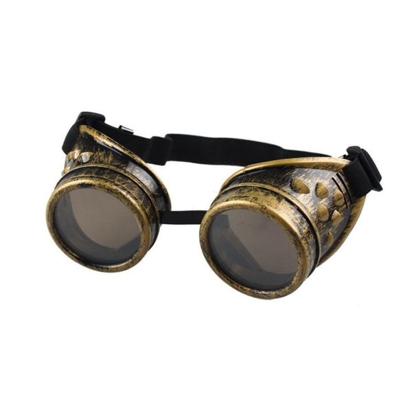 Retro Motorcycle Goggles Glasses Heavy Metal Steampunk Gothic Style Goggles for Harley Pilot Steampunk ATV Bike Copper Helmet