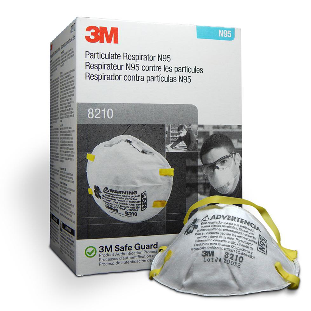 3M™ N95 8210 FACE MASK - PARTICULATE RESPIRATOR (20/Box)