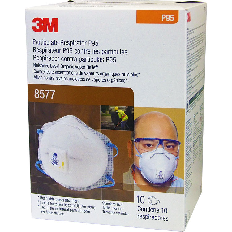 3M P95 8577 Face Mask - Particulate Respirator (10/Box)
