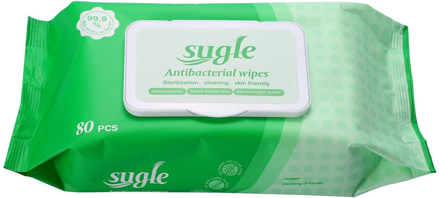 Sugle Antibacterial Wipes 80 wipes