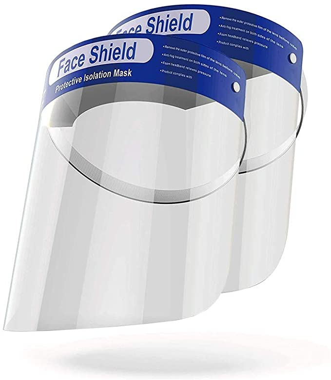 10 pack- Anti-Fog Face Shield w/ Elastic band