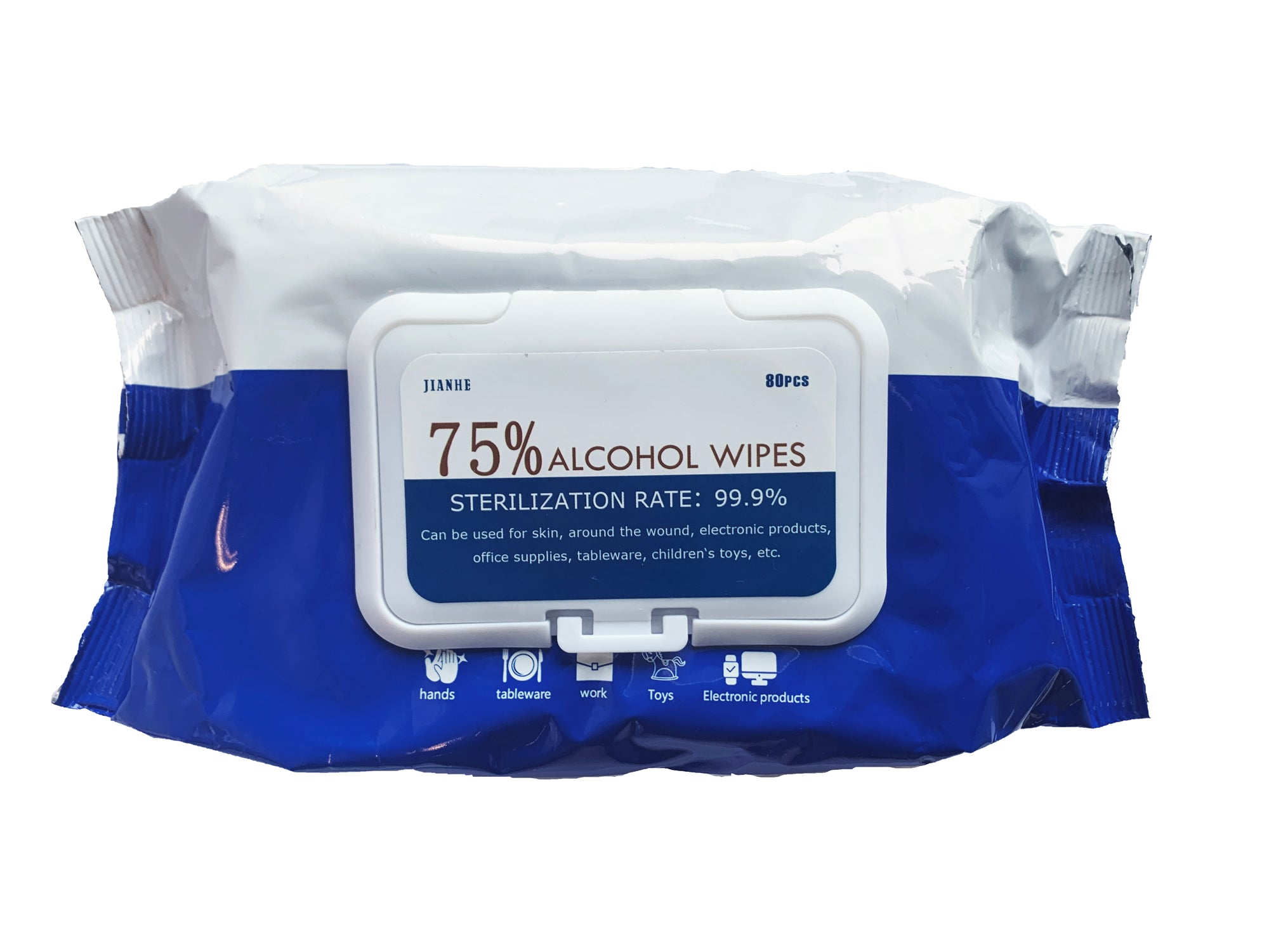 Jainhe 75% Alcohol Disinfectant Wipes