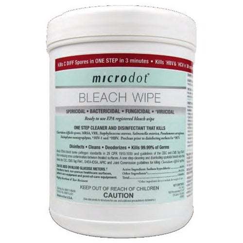 MicroDot Bleach Wipes,160 Count
