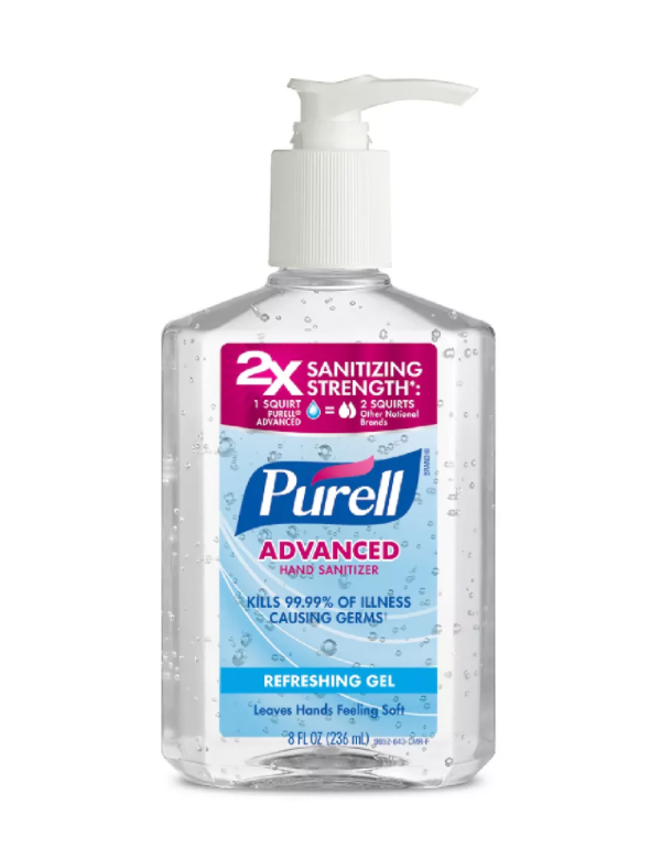 8oz Purell Advanced Hand Sanitizer Gel w/pump