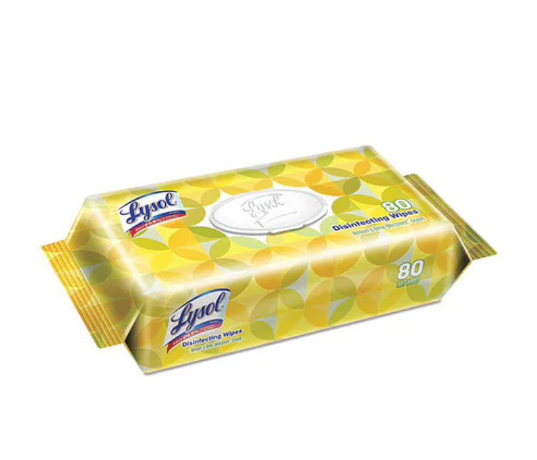 Lysol disinfecting wipes lemon and lime blossom 80 wipes