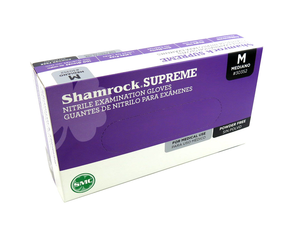 Shamrock Supreme Nitrile Exam Grade Gloves, Powder-Free