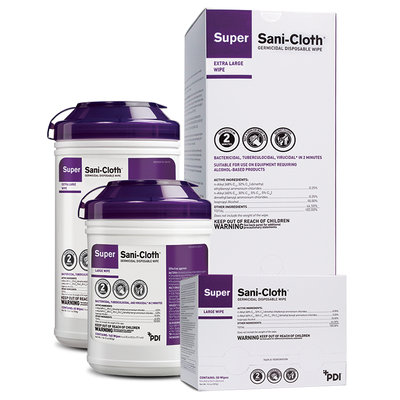 Super Sani-Cloth Germicidal Disposable Wipe XL 65 wipes