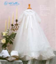 Load image into Gallery viewer, Will'Beth Girls Delicate Christening Gown - Style 06132