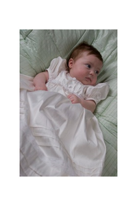 Heirloom Rosebuds & Lace Ivory Silk Gown by Precious Few Infant Wear