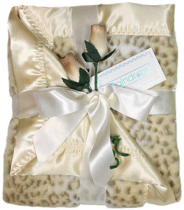 Ivory Leopard Print Receiving Blanket