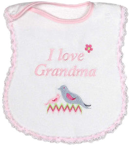 I Love Grandma Girls Bib