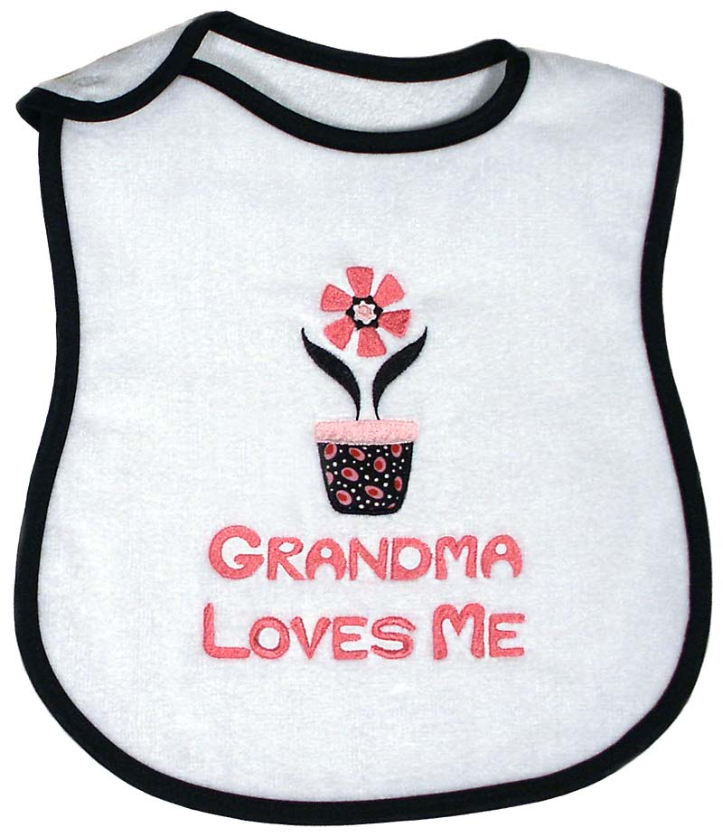 Grandma Loves Me Girls Bib