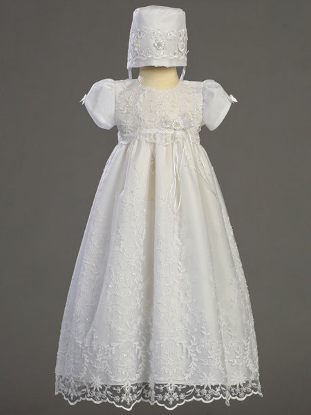 Lito Girls Sofia Lace Christening Dress