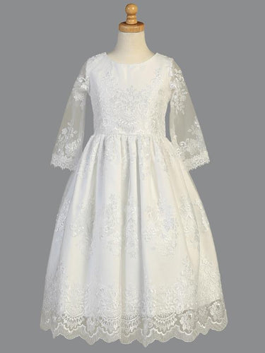 Lito Communion Dress Embroidered Tulle Style SP139