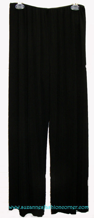 Alex Evenings Black Pleated Party Pants