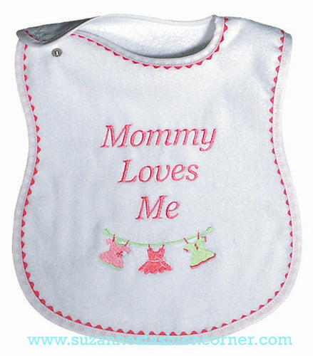 Girls Mommy Loves Me Bib