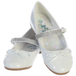Girls White Patent Leather Shoe