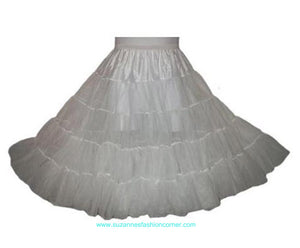 Girls White Long Crinoline Slip Skirt