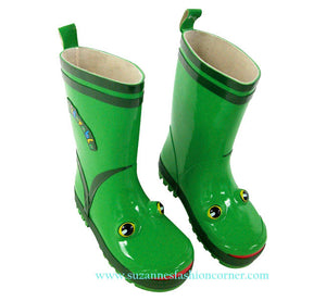 Kidorable Green Frog Rain Boots