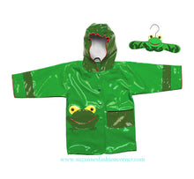 Load image into Gallery viewer, Kidorable Green Frog Raincoat