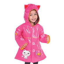 Load image into Gallery viewer, Kidorable Pink Lucky Cat Raincoat