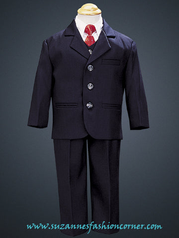 Boys Navy Blue 5 pc Suit by Lito