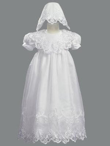 Lito Embroidered Organza Christening Gown & Hat style 2560