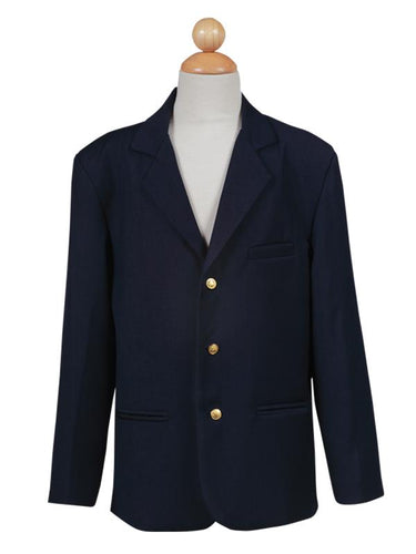Boys Navy Blue Suit Jacket with Gold Buttons