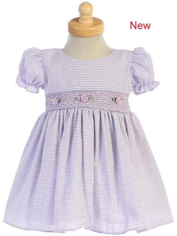 Lilac Cotton Seersucker Dress Lito style M743