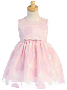 Pink Polka Dot Tulle Dress