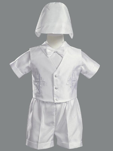 Lito Boys Christening Shantung Outfit & Hat