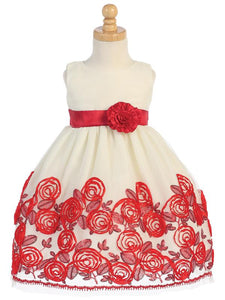Red Velvet Ribbon Dress