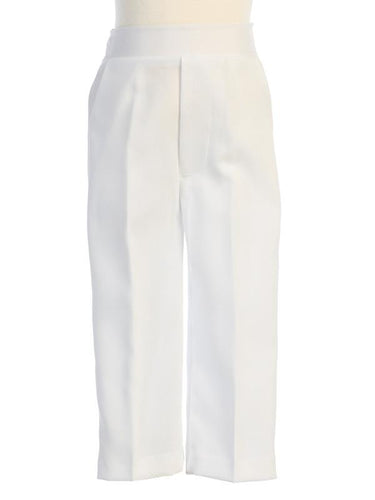 Boy's White Suit Pants