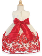 Load image into Gallery viewer, Red Velvet Ribbon Dress
