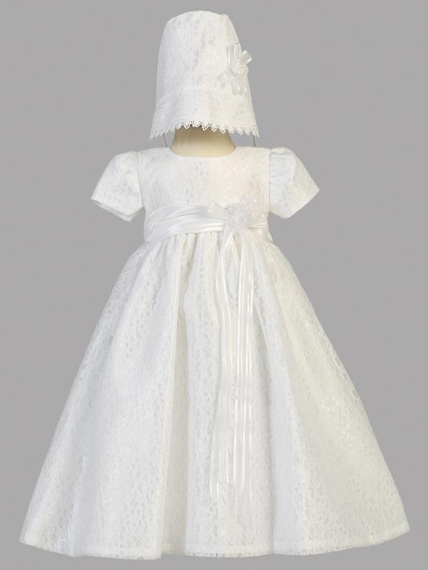 Lito White Lace Christening Gown style Chloe