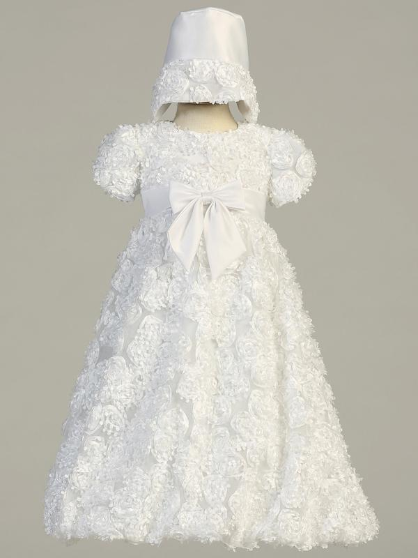 Lito Christening Tulle Dress & Bonnet style Daisy