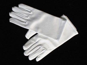 Communion White Satin Gloves