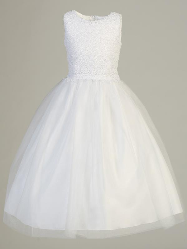 Lito White Communion Dress Lace Tulle style SP141