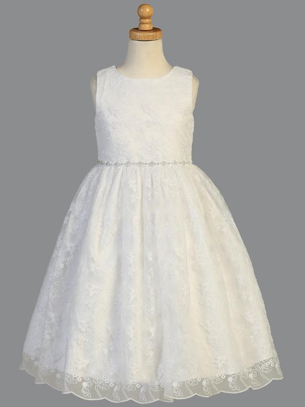 Lito Communion Embroidered Tulle Dress SP993