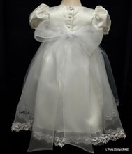 Load image into Gallery viewer, L'Pety Canar White Satin Christening Dress  Style G402