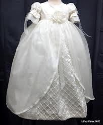 L'Pety Canar Ivory Silk Shantung Christening Dress style GMC 705