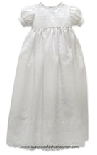 Load image into Gallery viewer, L'Pety Canar Girls White Cotton Christening Dress & Hat style G320