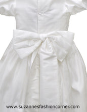 Load image into Gallery viewer, L'Pety Canar Girls Silk Christening Gown & Hat style G421