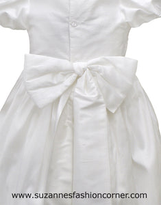 L'Pety Canar Girls Silk Christening Gown & Hat style G421