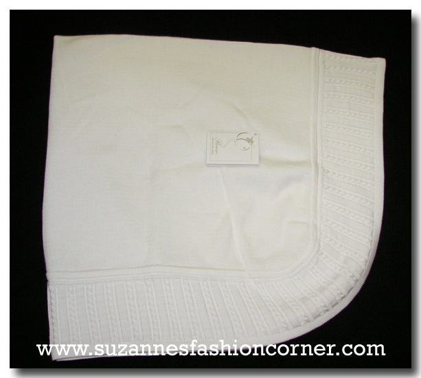 Renzo Infant White Shawl Blanket
