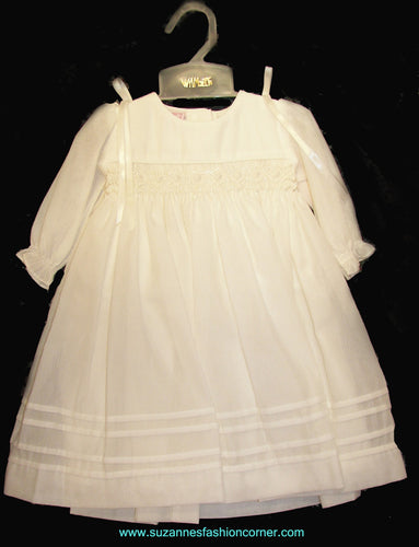 Will'Beth Ivory Infant Dress