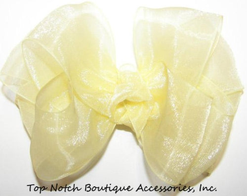 Yellow Organza Hair Bow