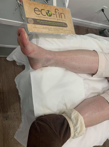 This eco-fin treatment is built into your pedicure expereince. This treatment will soften the skin, seal the cracks and keep your heals soft for longer.