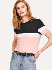 Women Multicoloured T-Shirt Regular Length GlowRoad