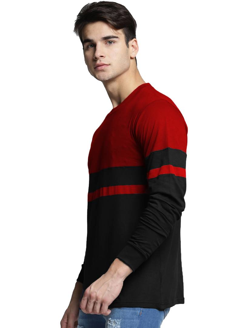 Cherry Red Round Neck Tee GlowRoad